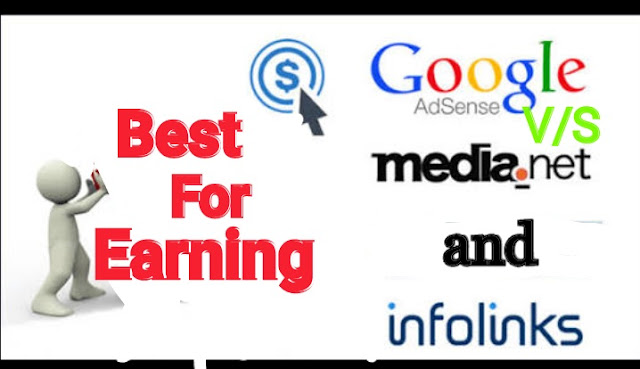 Adsense v/s media.net and infolink.net/who is best for earning on blogging