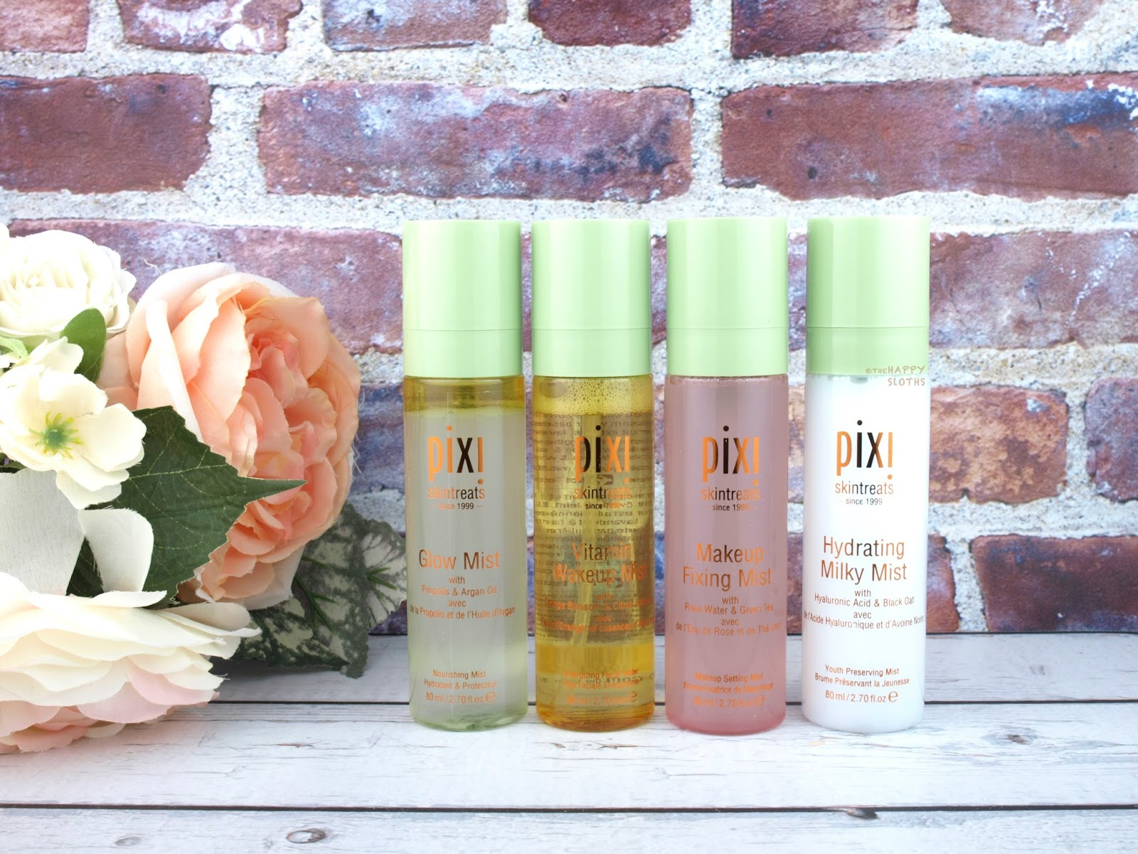 Pixi Skintreats | Hydrating Milky Mist, Makeup Fixing Mist, Vitamin Wakeup Mist & Glow Mist: Review