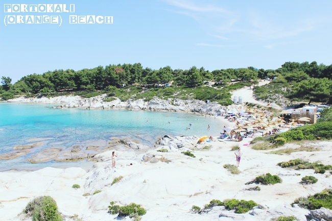 Portokali (Orange) organized beach in Sithonia Greece