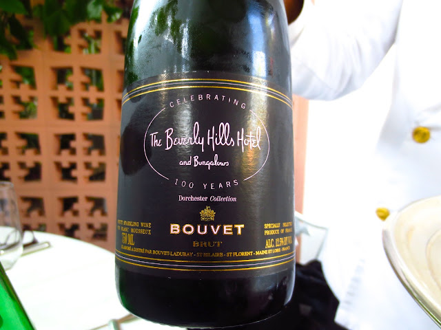 Beverly Hills Hotel's private label champagne bottle