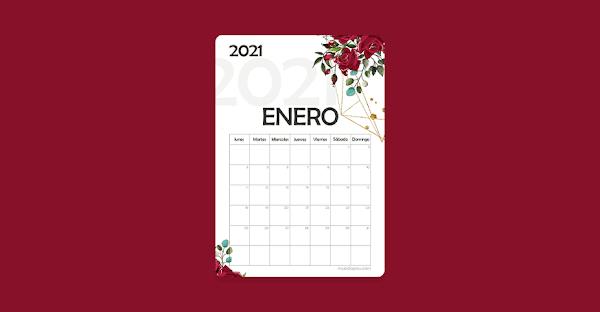 ▷ Calendario 2021 para Imprimir 【 PDF & JPG 】
