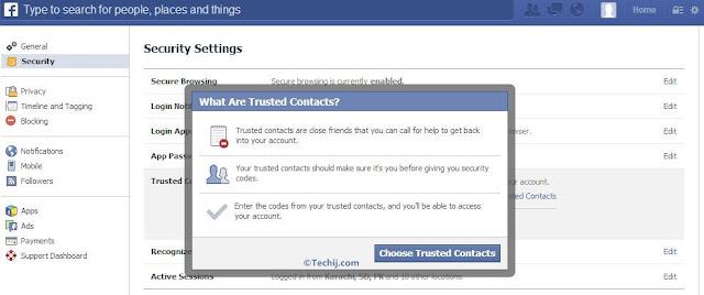 recover facebook password