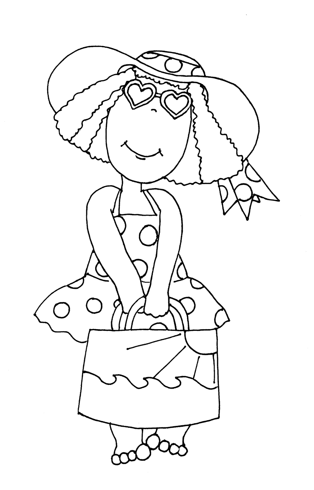 Free Dearie Dolls Digi Stamps: Day at the Beach Girl