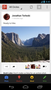 Google+ Android App Screen Shot