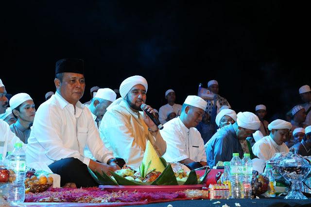 Bersama Habaib, Gubernur Kalsel Hadiri Kintap Bershalawat