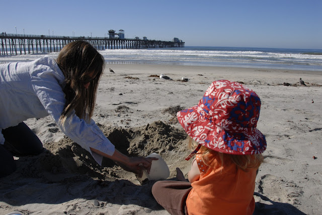 daughter and granddaughter at the beach: LadyD Books
