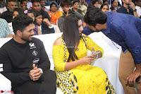 Pujita Ponnada in transparent sky blue dress at Darshakudu pre release ~  Exclusive Celebrities Galleries 047.JPG