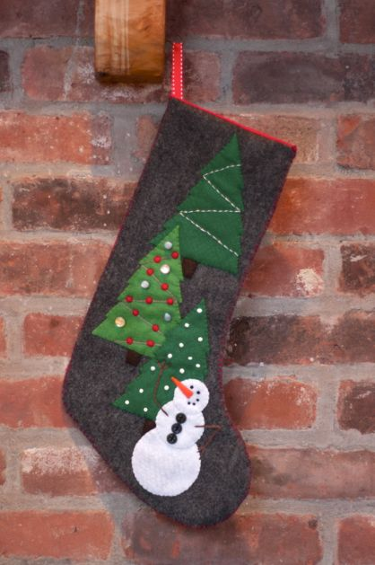 Quilt Inspiration Free Pattern Day Christmas Stockings