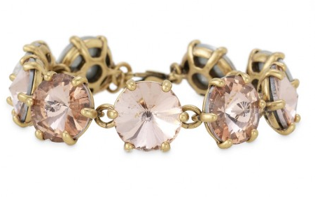 Stella & Dot Amelie Sparkle Bracelet in Peach