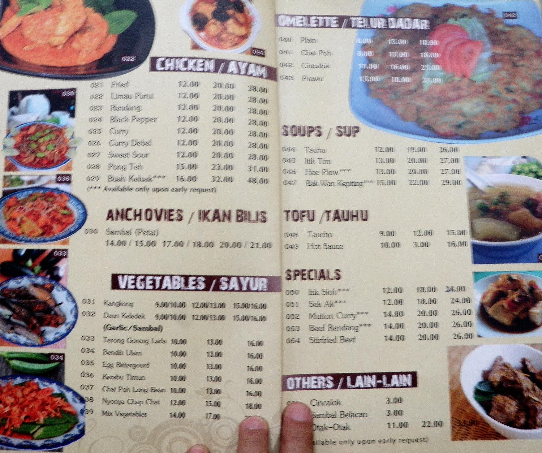 aunty lees menu - Lees Kitchen Menu