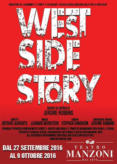Wizard productions indice Bando di audizione per la nuova produzione italiana dello spettacolo WEST SIDE STORY, 26 giugno a Milano