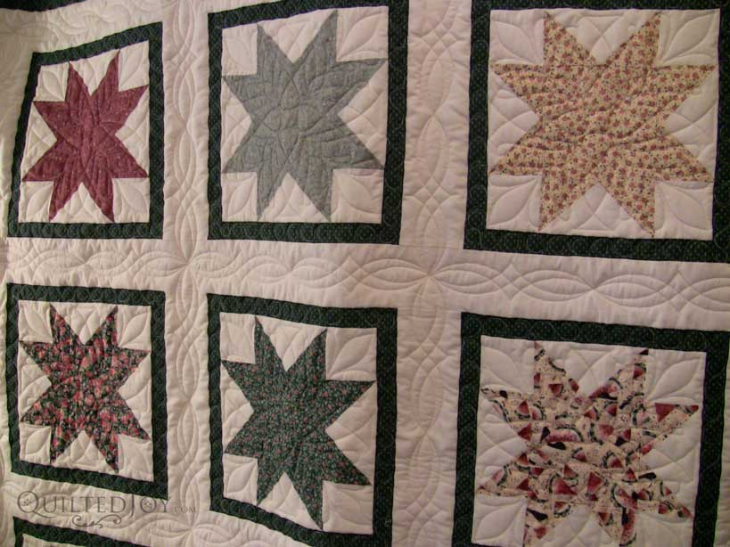 Joann S Ohio Star Quilt Quilted Joy