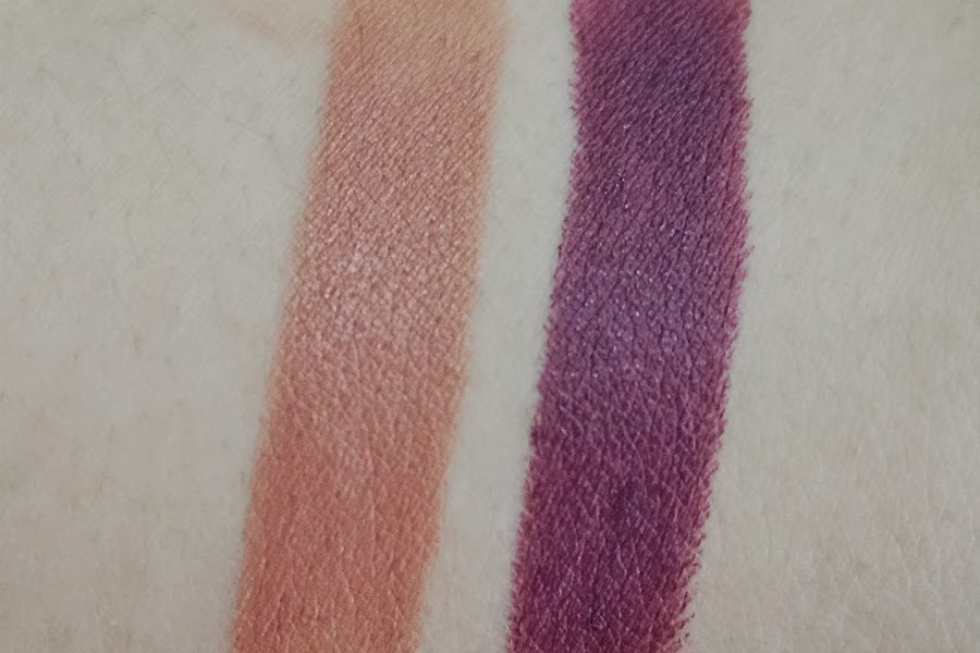 Wet n Wild Mega Last Lip Color in Sweet Cream (L) and Bordeaux Boulevard (R)