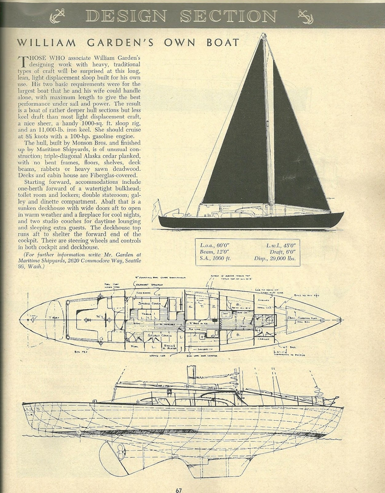 Tanton yacht design boat design of the month march 2016 for Garden design troller boat