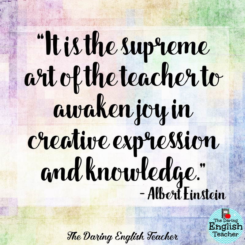 Inspirational Teaching Quotes Extraordinary The Daring English Teacher Inspirational Teacher Quotes 2