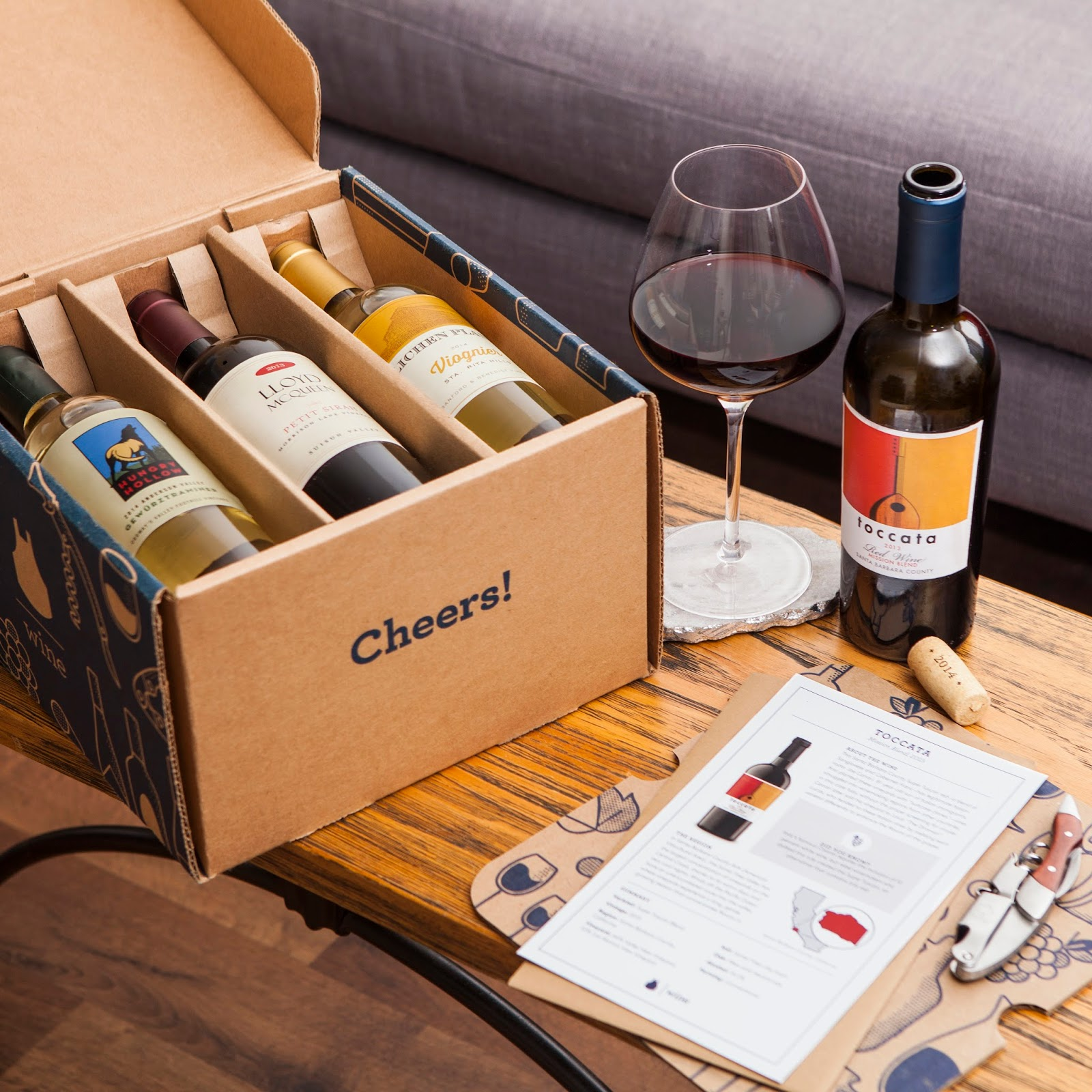wine subscription box from blue apron