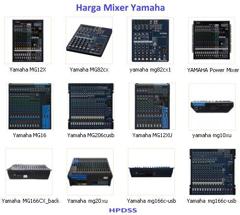 Harga Mixer Yamaha