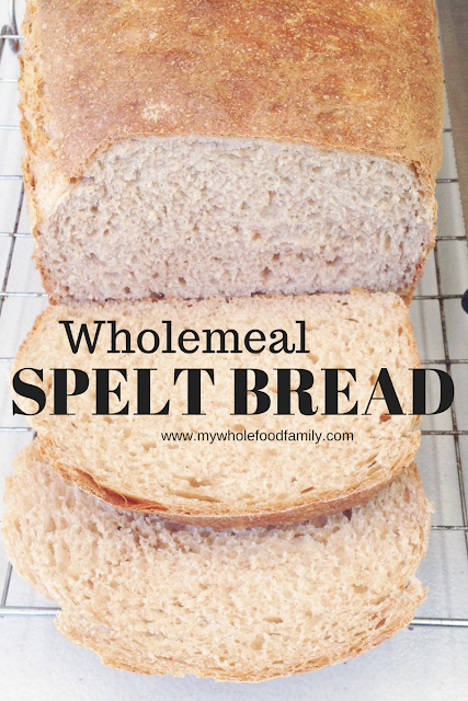 Wholemeal spelt bread - thermomix - www.mywholefoodfamily.com