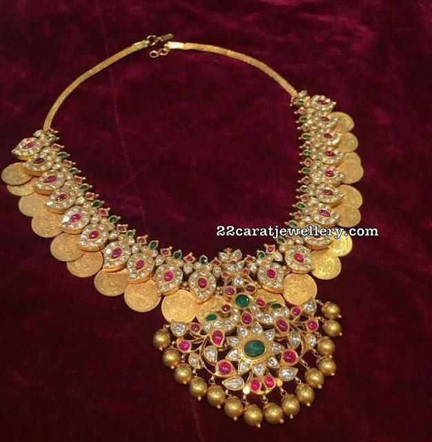 Traditional Kasu Mango Necklace