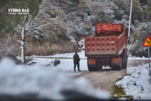 Έκλεισε για τα φορτηγά ο δρόμος προς Κρανίδι - Μόνο με αντιολισθητικές αλυσίδες τα ΙΧ