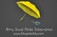 Bitty Social Media Subscription Widget For Blogger