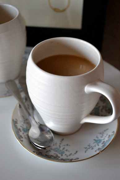 Coffee Cup White Coaster Spoons Latte