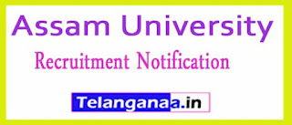 Assam University Recruitment Notification 2017