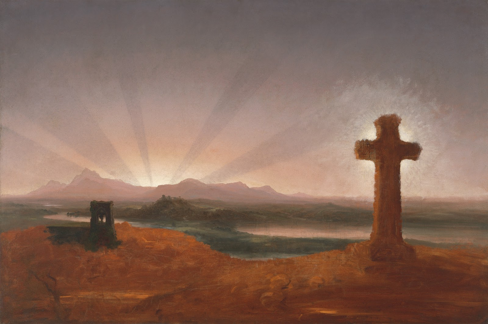 Thomas Cole Cross at Sunset  Museo Thyssen