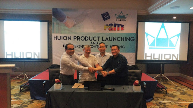Power of Three : Huion, PSITE and ATI sealed partnership to provide better technology for the Filipinos
