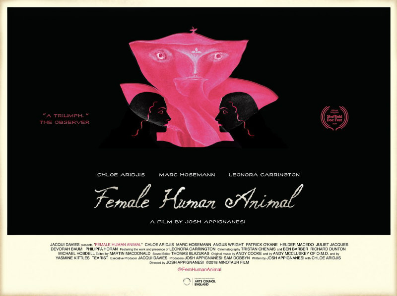 female human animal poster