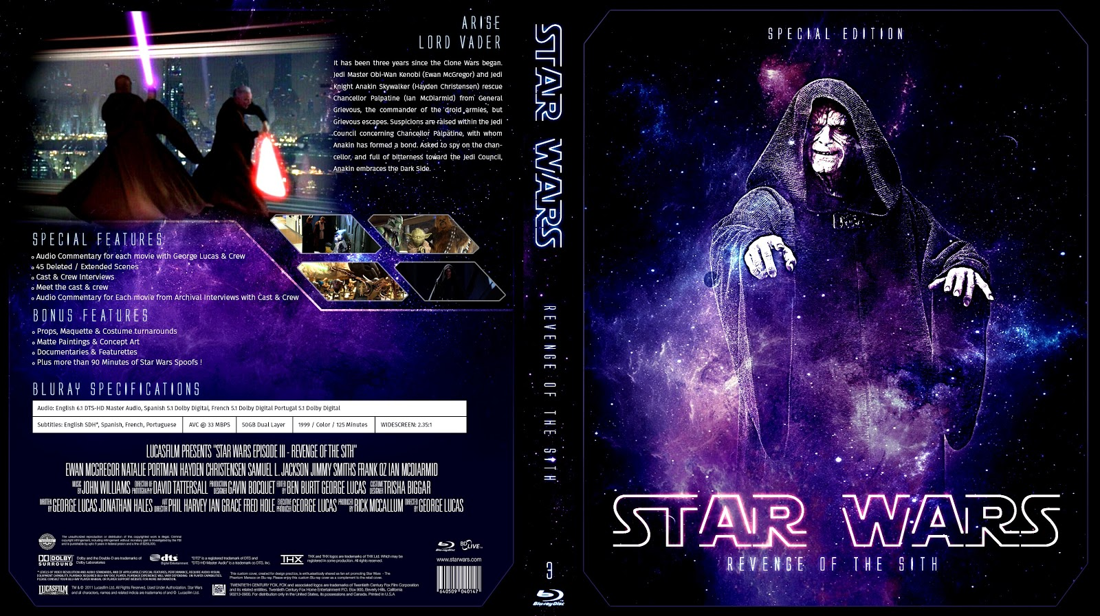 Star Wars Episode Iii Revenge Of The Sith Bluray Cover Cover Addict Free Dvd Bluray Covers And Movie Posters