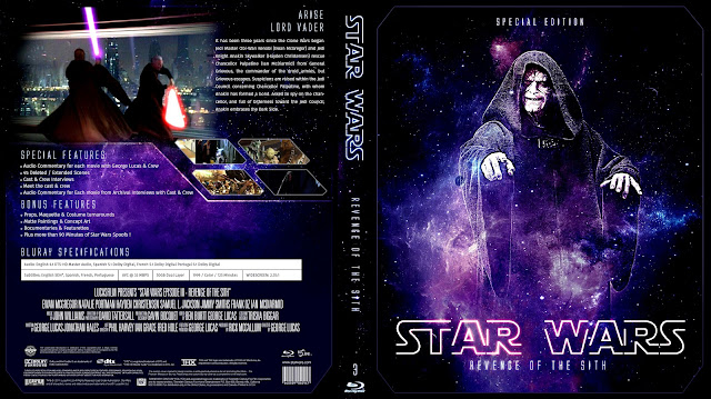 Star Wars: Episode III - Revenge of the Sith Bluray Cover
