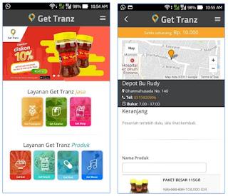 Aplikasi kurir Get Tranz.