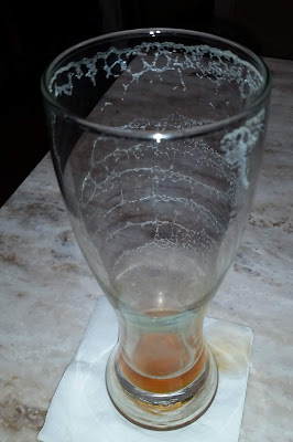 beer - SanTan Devil's Ale - empty glass with lacing