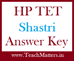 image : HPBOSE Answer Key of HP TET Shastri @ TeachMatters