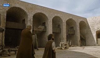 Tyrion y Varys paseando por Peñíscola.