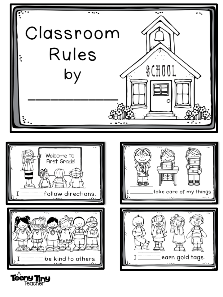 Freebielicious: Classroom Rules Book