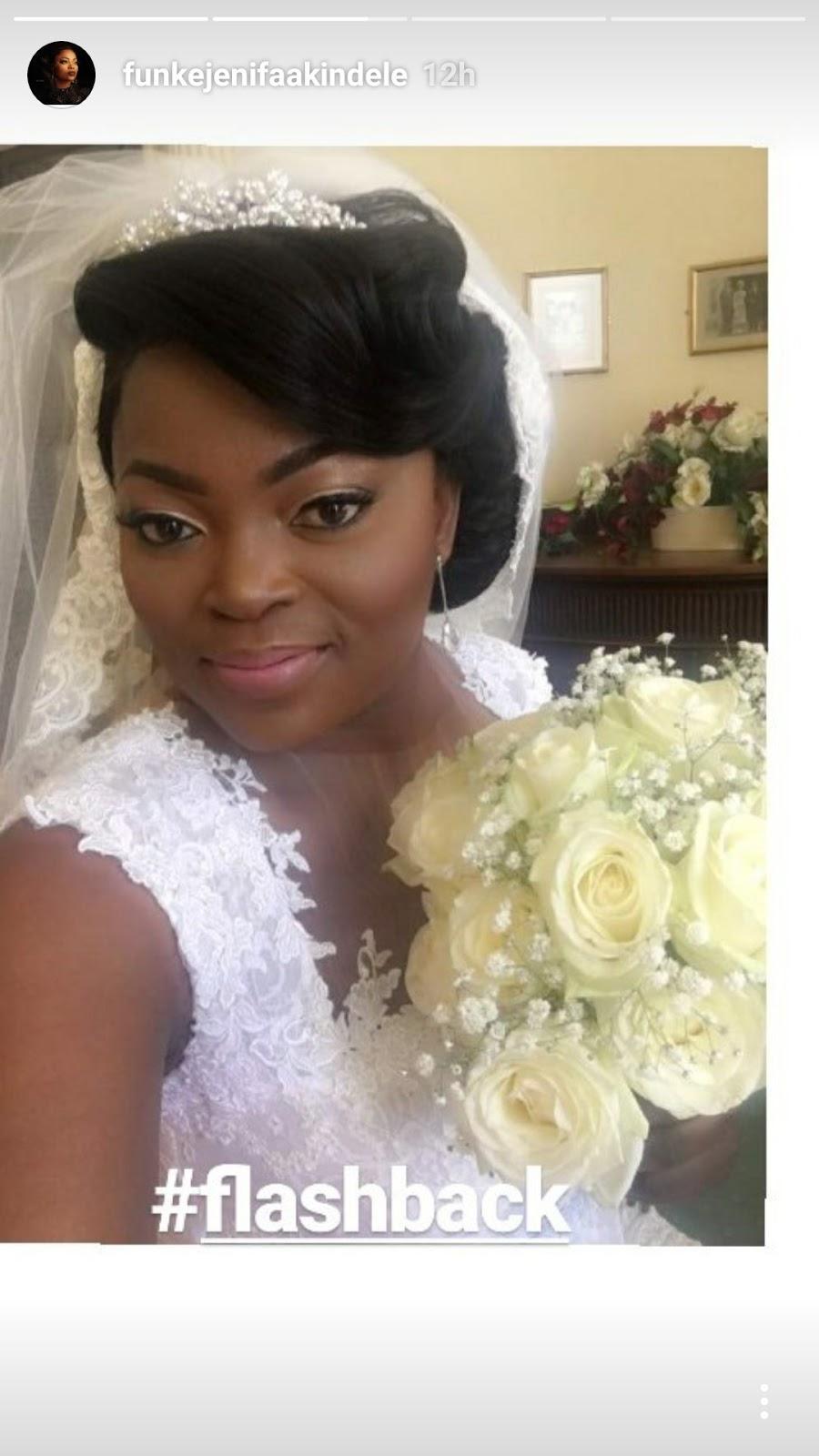 tkhd_exw Funke Akindele Bello Shares Throwback Photo From Her Wedding Day