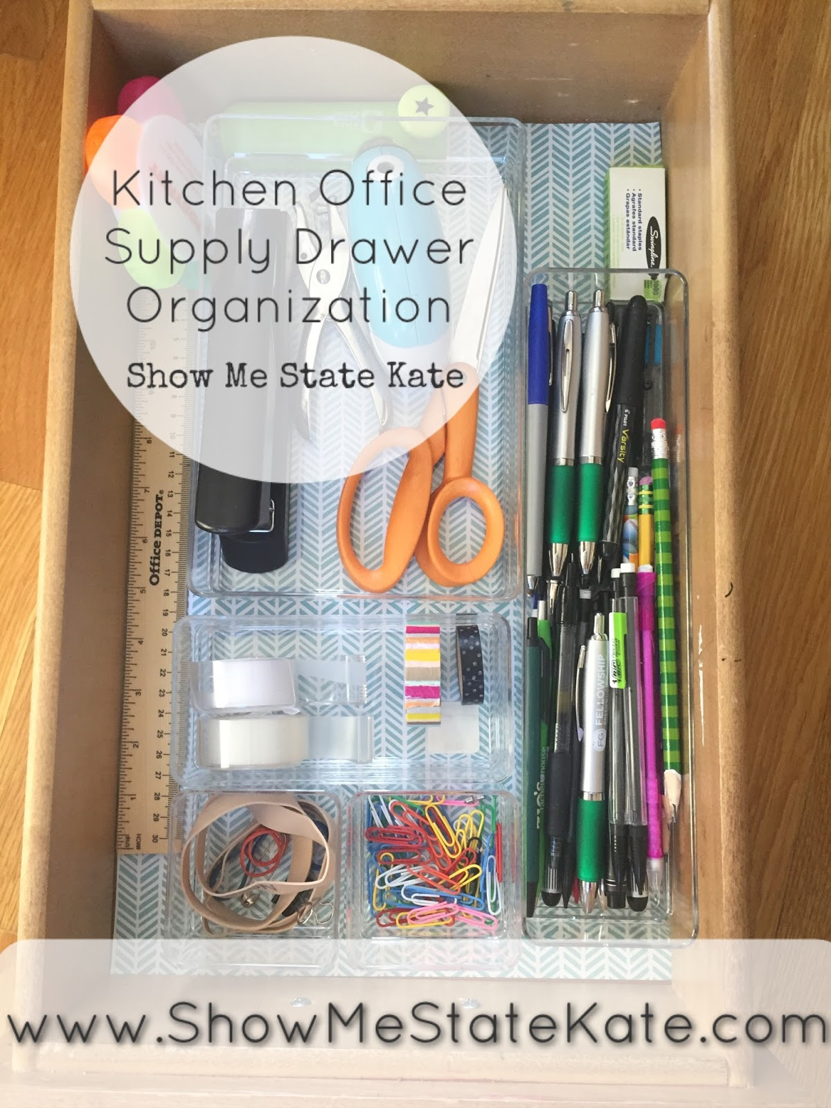 Kitchen Office Organization Show Me State Kate Mission Organizationkitchen Office Supply