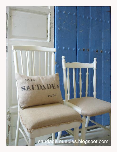 Saudade tapizar con tela de saco - Telas tapizar sillas ...