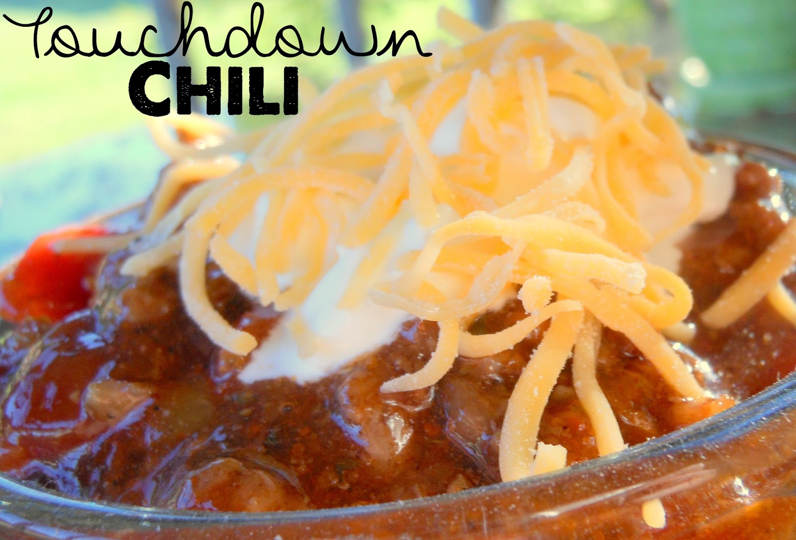 Sunny Days With My Loves Adventures In Homemaking Touchdown Chili Gets A Johnsonville Makeover