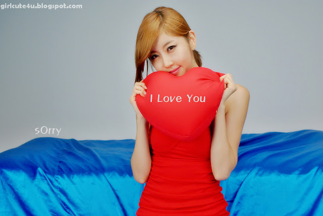 Choi-Byul-I-One-Shoulder-Red-Dress-02-very cute asian girl-girlcute4u.blogspot.com