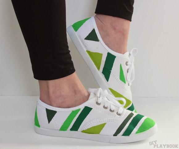 DIY geometric shoes