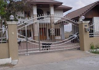contoh pagar rumah tingkat dari stenlis