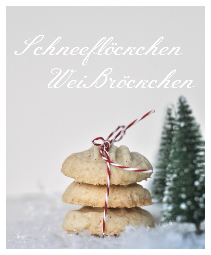 Snowflakes, German christmas cookies, gluten free and softly melting - delicious!