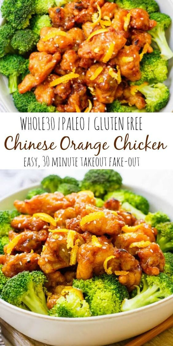 Easy Whole30 Chinese Orange Chicken Paleo, Gluten-free