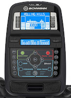 Schwinn 470 console with Blue backlit LCD display & Bluetooth connectivity, image