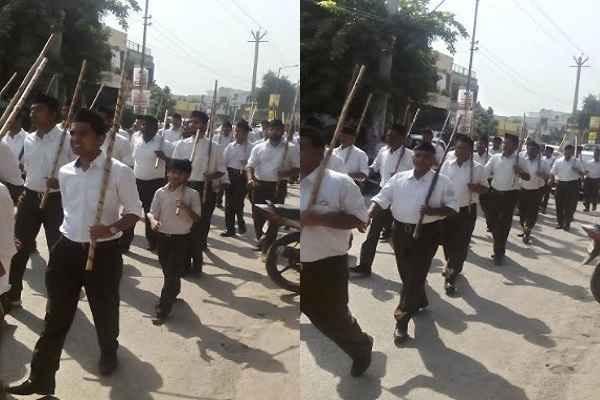 faridabad-sector-7-rss-workers-pathsanchalan-shastra-pooja