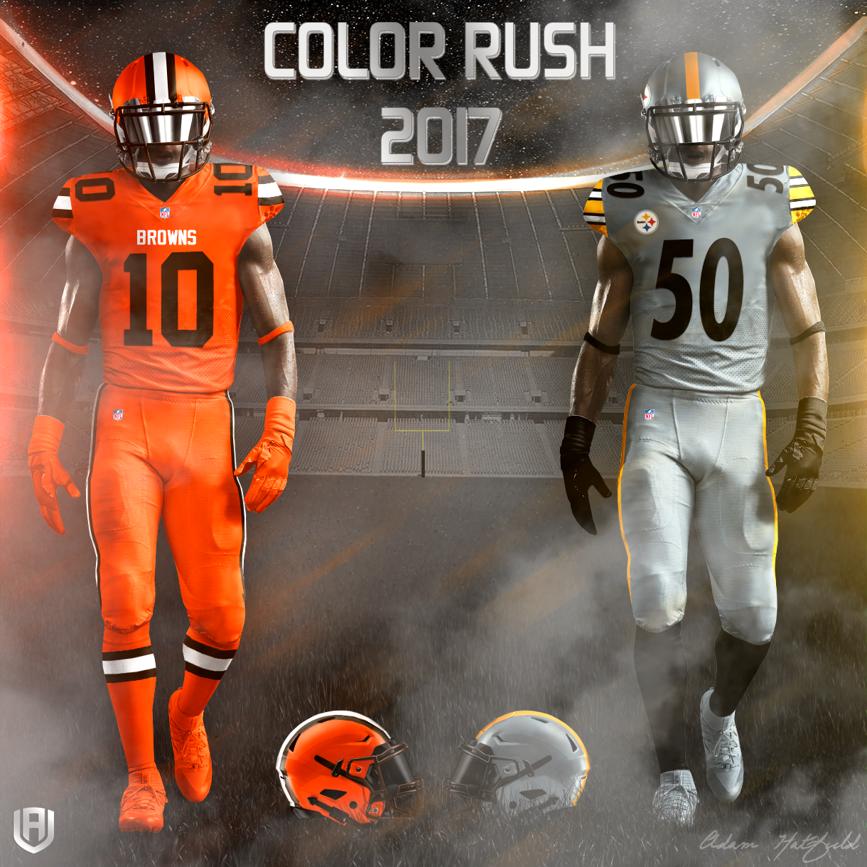 Design: Adam's Take On NFL Color Rush 2017 - Touchdown Europe