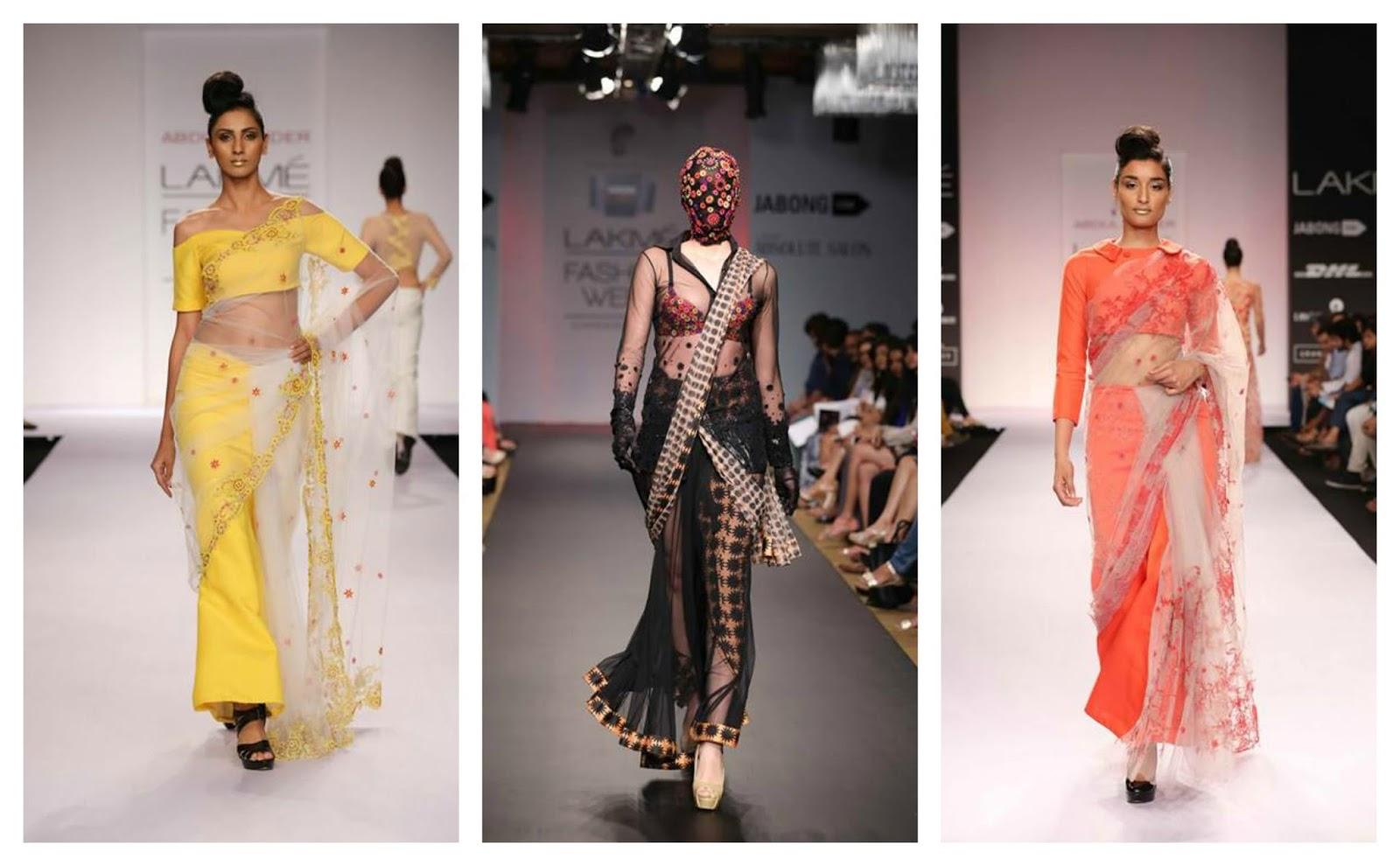 designer saree 2014